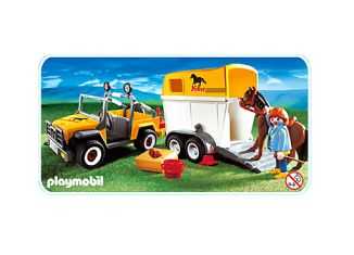 Playmobil - 3249s2 - Jeep with trailer & horse