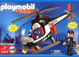 Playmobil - 3324-usa - Patrol Chopper - U.S.