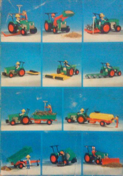 Playmobil 3500v2-ant - Green Tractor & Farmer - Back
