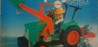 Playmobil - 3500v2-ant - Green Tractor & Farmer