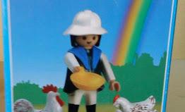 Playmobil - 3595v1-ant - Farmer with chicks