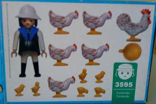 Playmobil 3595v1-ant - Farmer with chicks - Back