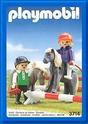 Playmobil 3714 - Children And Ponies - Boîte