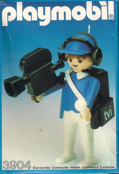 Playmobil 3904v1-esp - TV Cameraman - Box