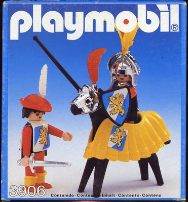 Playmobil 3906v1-esp - Tournament knight and squire - Box