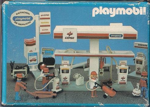 Playmobil 3917-esp - Gas station attendant - Back