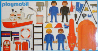Playmobil 1-3999-ant - Boat fire - Back