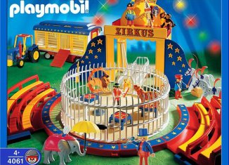 Playmobil - 4061-ger - Circus Wild Animal Act