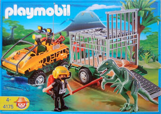 Playmobil 4175 - Amphibian Vehicle with Deinonychus - Box