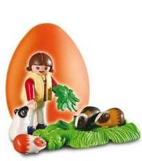 Playmobil - 4918v4 - Orange Egg Girl with Guinea Pigs