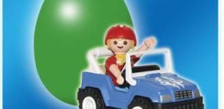 Playmobil - 4924v3 - Green Egg Boy in Blue Jeep
