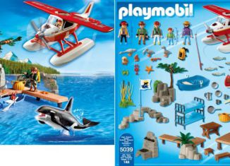 Playmobil - 5039 - Fishing cabin with Float Plane and Orca