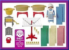 Playmobil 5407 - Washer Woman - Back