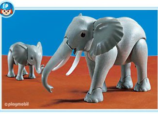 Playmobil - 7017 - 1 Large and 1 Small Elephant