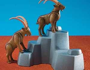 Playmobil - 7096 - 2 Mountain Goats With Rock Form