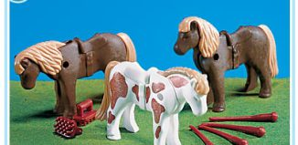 Playmobil - 7112 - 3 Ponies with Accessories