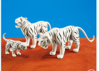 Playmobil - 7698 - 2 White Tigers with Cub