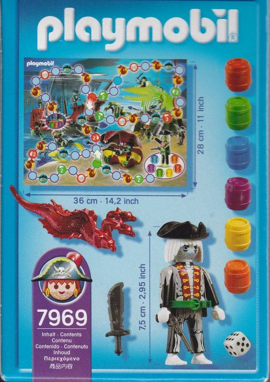 Playmobil 7969 - Ghost Pirate Game - Back