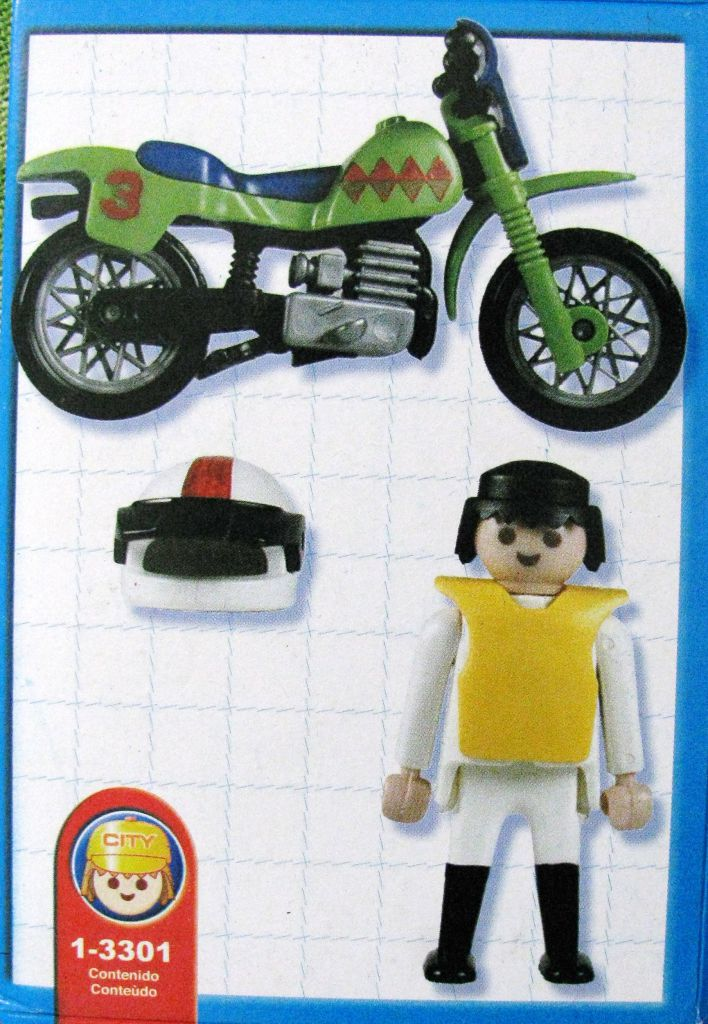 Playmobil 1-3301-ant - motocross - Back