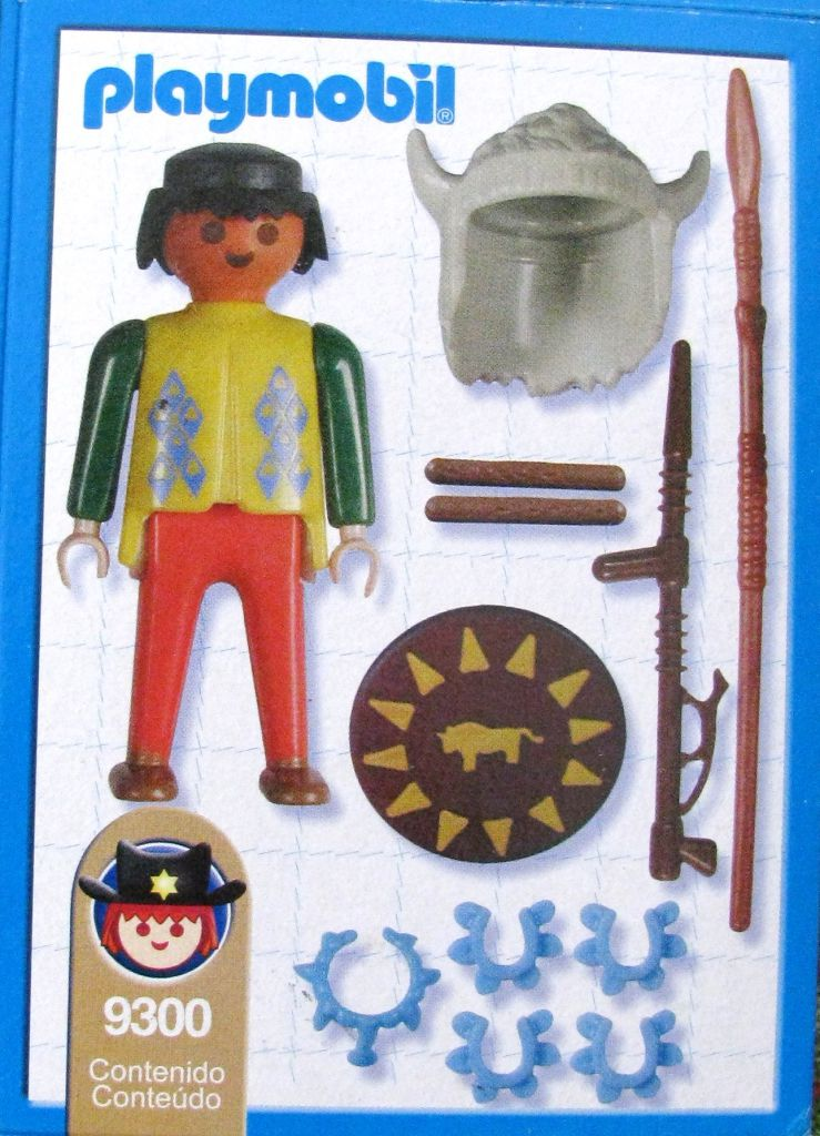 Playmobil 9300-ant - Indian Warrior - Back