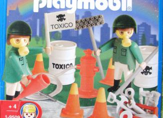 Playmobil - 9509-ant - Toxic Waste Cleaning Team