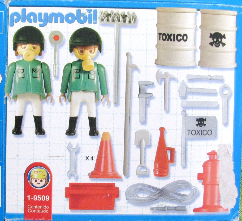 Playmobil 9509-ant - Toxic Waste Cleaning Team - Back
