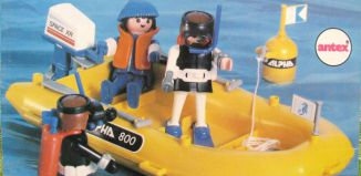 Playmobil - 3804-ant - Divers and Yellow Boat