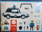 Playmobil 3149v2-ant - Police Car - Back