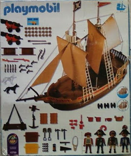 Playmobil 1-3750-ant - pirate ship - Back