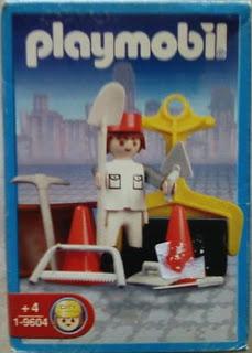 Playmobil 9604-ant - Road worker - Box