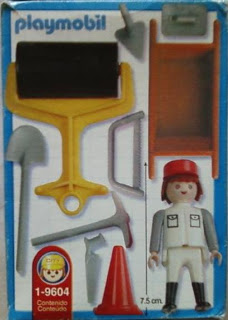 Playmobil 9604-ant - Road worker - Back