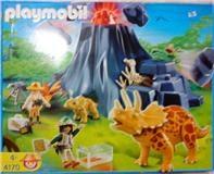 Playmobil 4170 - Triceratops mit Baby und Vulkan - Box
