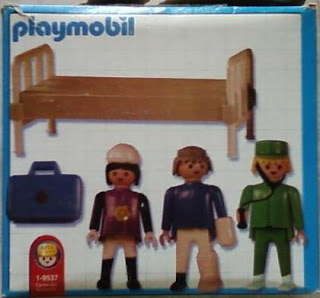 Playmobil 1-9537-ant - Hospital Room - Back