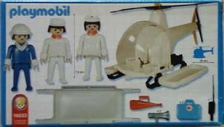 Playmobil 16033-ant - Helicopter ambulance - Back