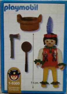 Playmobil 1-9300-ant - Indian woman - Back