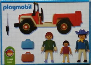 Playmobil 1-3940-ant - Red jeep with family - Back