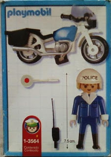 Playmobil 1-3564v2-ant - Police bike - Back