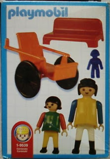 Playmobil 9539-ant - Girl in wheelchair - Back