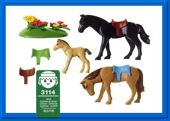 Playmobil set 3114s2 horses foals klickypedia for Playmobil pferde set