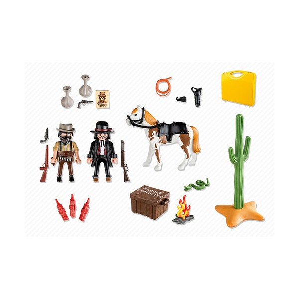 Playmobil 5608 - Carrying Case Western - Back