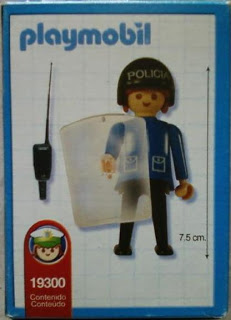 Playmobil 19300-ant - Police woman - Back