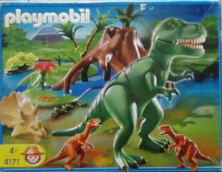 Playmobil 4171 - T-Rex with Velociraptors - Box