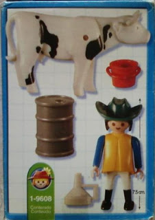 Playmobil 9608-ant - Farm Girl And Cow - Back