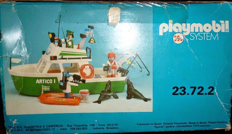 Playmobil 3722-trol - Arctic expedition ship - Back