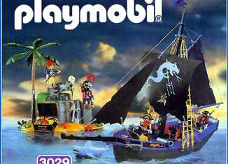 Playmobil - 3029-esp - corsairs' black schooner
