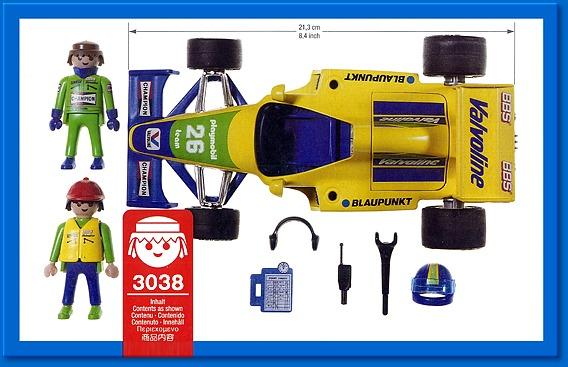 Playmobil 3038 - Formula 1 Car - Back