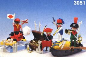 Playmobil - 3051-usa - 4 pirates
