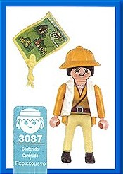 Playmobil 3087-esp - Jungle Explorer female - Back