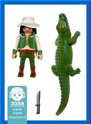 Playmobil 3088-esp - Alligator Ravine - Back