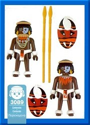 Playmobil 3089-esp - Natives - Back